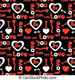 Seamless pattern with lovely motive