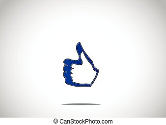 social media thumbs up double like paired up icon symbol...