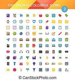100 Universal Material Icons set 2