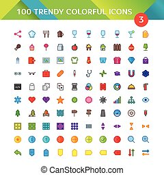 100 Universal Material Icons set 3