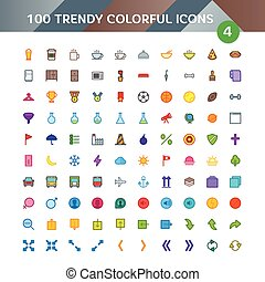 100 Universal Material Icons set 4