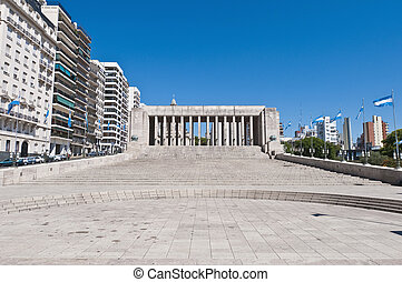 Monumento a la Bandera located at Rosario - Columns at the...