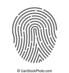 Symbol fingerprint art protect finger. Vector illustration