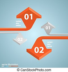 Arrows business growth art info. Vector illustration