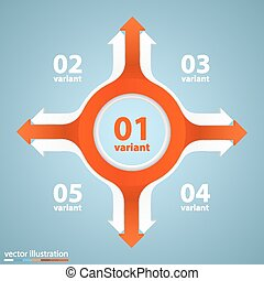 Arrows business growth art info Vector illustration