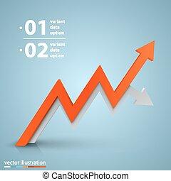 Arrows business growth. Vector - Arrows business growth art...