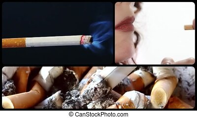 Anti-smoking clip - Danger of smoking