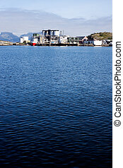 Shipping Industry - Coast shipping industry buildings in...