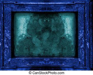 Deep blue old gothic frame