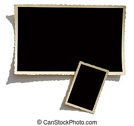 Old Photo Border - Blank photo. Put your image inside black...