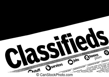Help Wanted - Classified section of a local newspaper with...