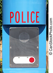 Police emergency call box - Providing security and safety to...