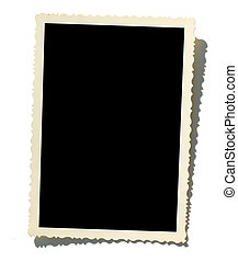 Old Photo Border - A blank photo Put your image inside black...