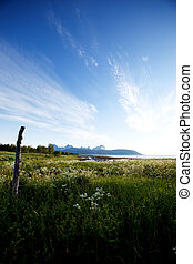 Norway Landscape - A landscape in northern Norway with...