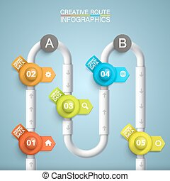 Point algorithm information art info. Vector illustration