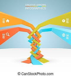 Arrows business growth art tree Vector illustration