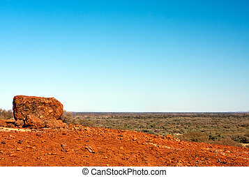 Outback Vista - Australian desert outback vista, with...