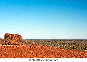 Outback Vista - Australian desert outback vista, with...