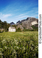 Rural Norway House - A house in rural Norway at the foot of...