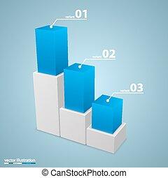 Data 3d growth chart