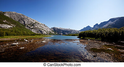 Norway Lake Landscape - A lake landscape in northern Norway...