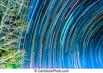 image of Long exposure star trails - image of Long exposure...