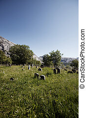 Old Graveyard - An old abandoned graveyard in the mountains