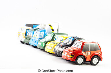 Several law enforcement small cars. Italian Police, Fireman,...