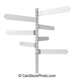 Directional signpost. 3d illustration isolated on white...
