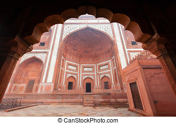 Mughal Architecture - The Great Gate at the Taj Mahal...