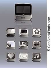 Detailed icons for smartphone, for the tablet or any other...