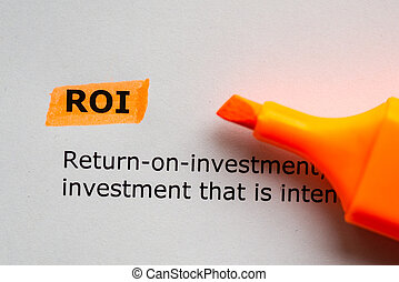 roi word highlighted on the white background