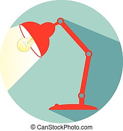 Desk lamp icon eps 10