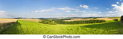 Eifel Summer Landscape Panorama, Germany - Beautiful...