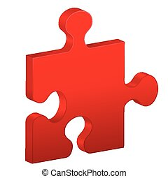 puzzle piece - Puzzle piece on a white background. Vector...