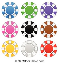 poker chips - Casino chips on a white background. Vector...
