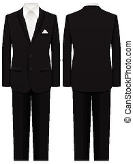 man suit - Men formal suit on a white background