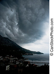 Dramatic sky above Adriatic Sea