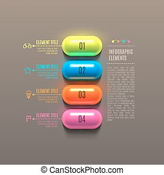 Business Infographics capsule concept 3d vector illustration...
