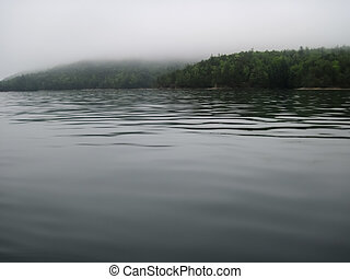 Mystical Lake Jocassee - Fog rolls in on a spring morning...
