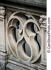 Detail of Ornate Stone Railing - A sculpted railing provides...