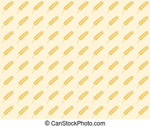 spikelet seamless pattern - vector seamless pattern with...