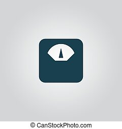 weighting apparatus icon - weighting apparatus. Flat web...