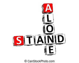 3D Crossword Stand Alone on white background