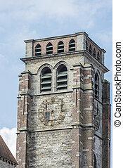 são, Brise, igreja, em, Tournai, Bélgica,