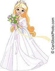 Spring princess - Illustration of very cute spring princess
