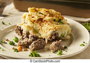 Homemade Irish Shepherd's Pie with Lamb and Potatoes