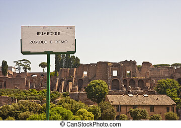 Romulus and Remus - Ruins on the site of the birth of Rome