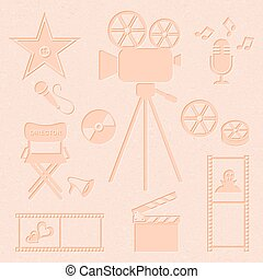 Movie and music icons - Retro vector movie and music icons...
