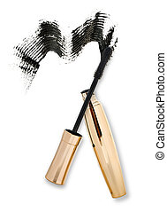 mascara on a white background,